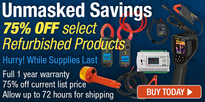75% OFF all our refurbished products - while supplies last